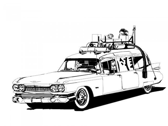 Ghostbusters Car Coloring Pages : Ghostbusters car coloring pages
