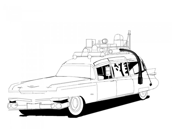 Ghostbuster car coloring pages ~ Ghostbusters Ecto 1 Coloring Pages Printable Sketch ...