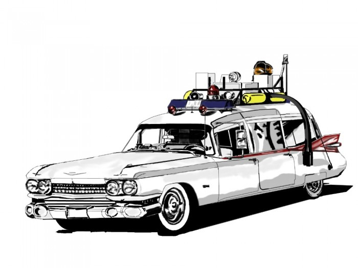 Ghostbusters Car Coloring Pages : Free coloring pages of ecto