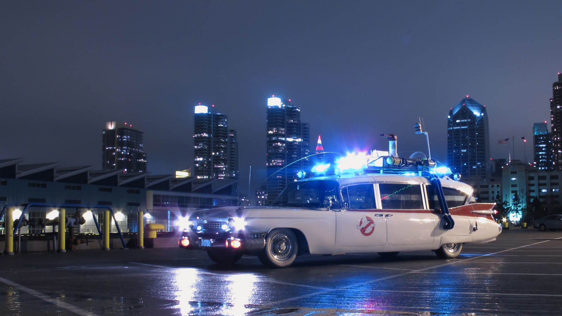 high-resolution ecto-1 wallpapers - ghostbusters fans
