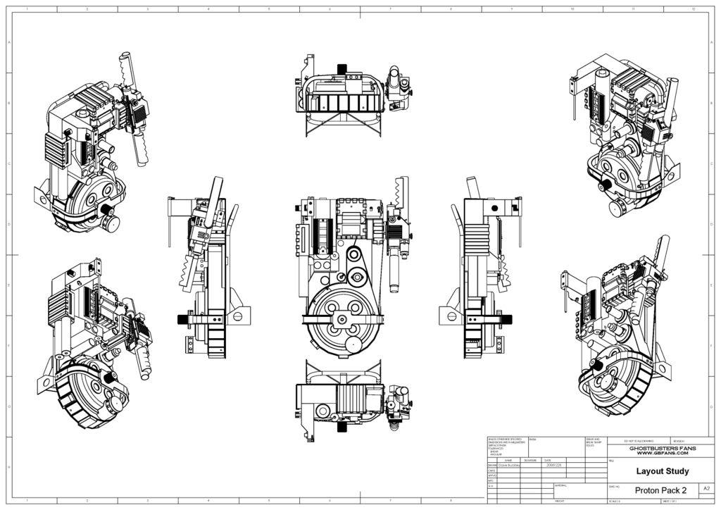 proton pack diagrams
