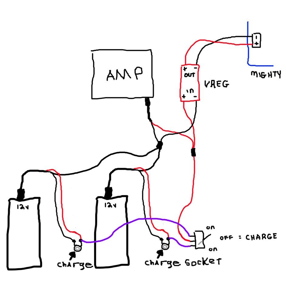 quick blue brick battery wiring question  is this an issue