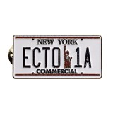 Ghostbusters Ecto-1A License Plate Lapel Pin